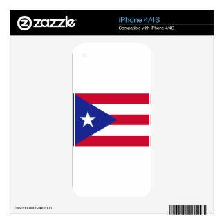 Flag of Puerto Rico - Bandera de Puerto Rico Decals For iPhone 4S