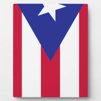 Flag of Puerto Rico - Bandera de Puerto Rico Plaque