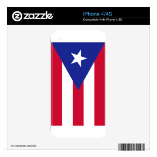 Flag of Puerto Rico - Bandera de Puerto Rico Skin For The iPhone 4