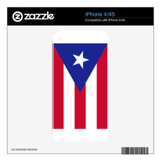 Flag of Puerto Rico - Bandera de Puerto Rico Skins For iPhone 4S