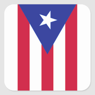 Flag of Puerto Rico - Bandera de Puerto Rico Square Sticker