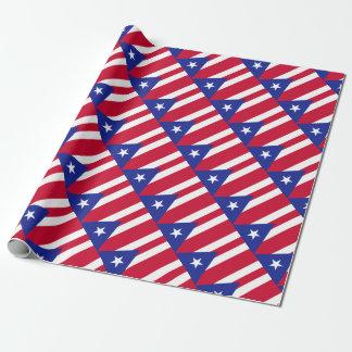 Flag of Puerto Rico - Bandera de Puerto Rico Wrapping Paper