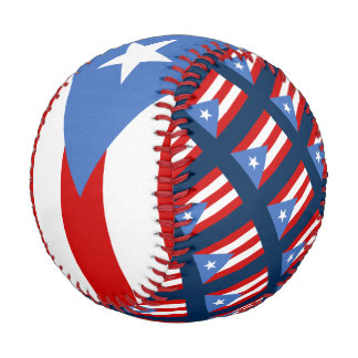 Flag of Puerto Rico Baseballs
