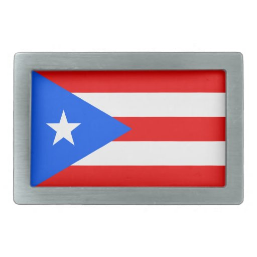 Flag of Puerto Rico Belt Buckle
