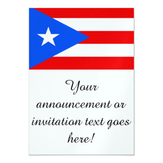 Flag of Puerto Rico Card