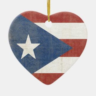 Flag of Puerto Rico Ceramic Ornament