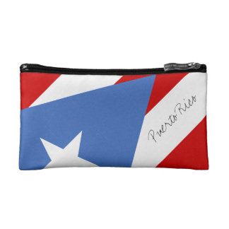 Flag of Puerto Rico Cosmetic Bag