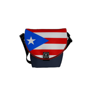 Flag of Puerto Rico Courier Bag