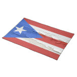 Flag of Puerto Rico Distressed Paint Placemats