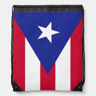 Flag of Puerto Rico Drawstring Bag