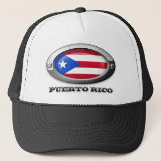 Flag of Puerto Rico in Steel Frame Trucker Hat