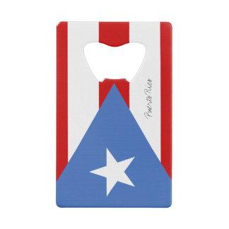 Flag of Puerto Rico Credit Card Bottle Opener