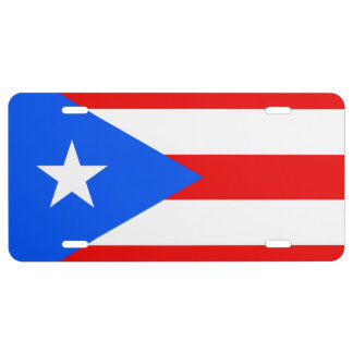 Flag of Puerto Rico License Plate