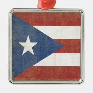 Flag of Puerto Rico Metal Ornament