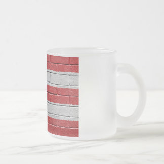 Flag of Puerto Rico 10 Oz Frosted Glass Coffee Mug