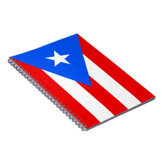 Flag of Puerto Rico Notebook