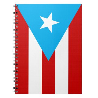 Flag of Puerto Rico Spiral Notebook