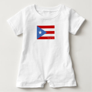 Flag of Puerto Rico: Patriotic Baby Romper