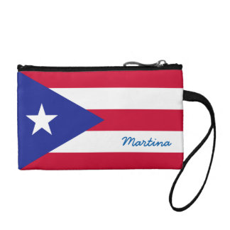 Flag of Puerto Rico Personalized Coin Wallet