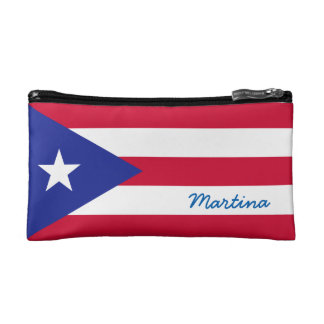 Flag of Puerto Rico Personalized Cosmetic Bag
