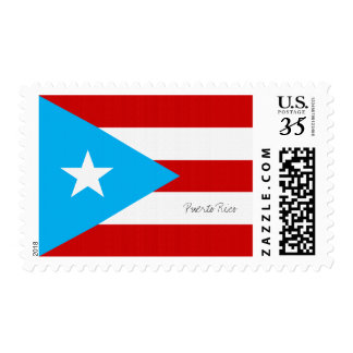 Flag of Puerto Rico Postage Stamp