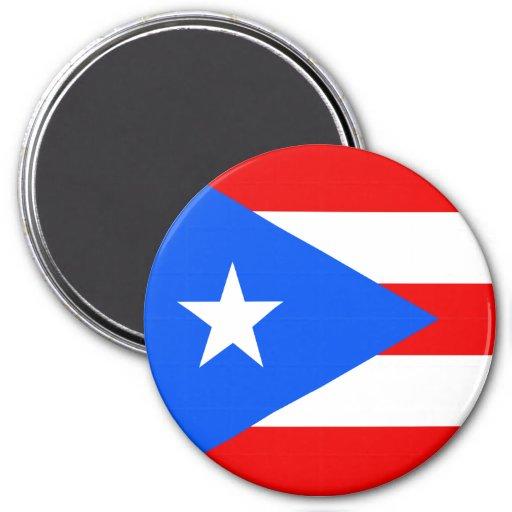 Flag of Puerto Rico Refrigerator Magnet