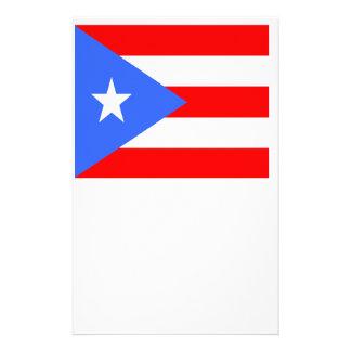 Flag of Puerto Rico Custom Stationery