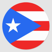 Flag of Puerto Rico Sticker