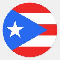 Flag of Puerto Rico Sticker