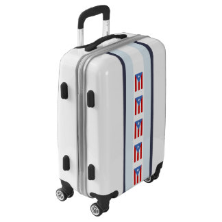 Flag of Puerto Rico Striped Luggage