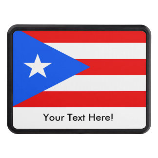 Flag of Puerto Rico Trailer Hitch Cover