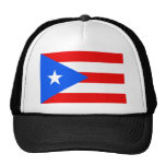 Flag of Puerto Rico Trucker Hats