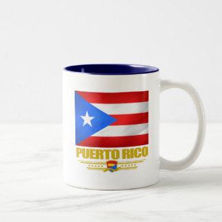 Flag of Puerto Rico Two-Tone Coffee Mug