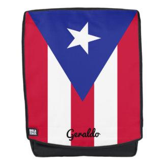 Flag of Puerto Rico with Custom Monogram Backpack