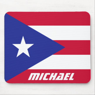 Flag of Puerto Rico with Monogram Mouse Pad