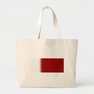 Flag of Qatar Large Tote Bag