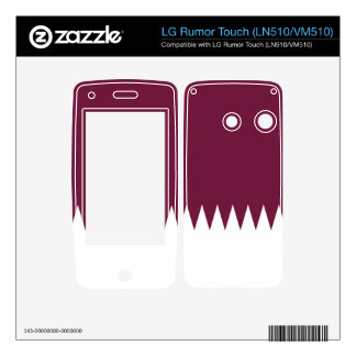 Flag of Qatar Decal For LG Rumor Touch