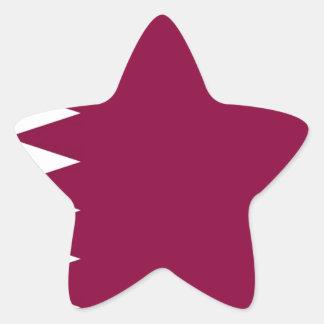 Flag of Qatar Star Sticker
