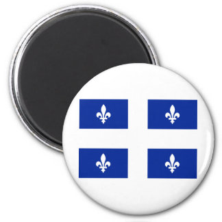 Flag of Quebec 2 Inch Round Magnet