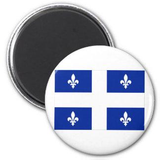 Flag of Quebec, Canada 2 Inch Round Magnet