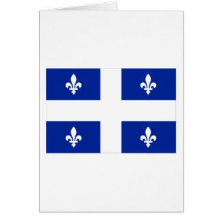 Flag of Quebec, Canada Card