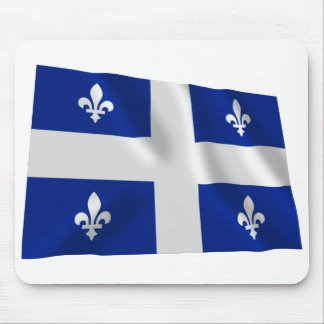 Flag of Quebec, Canada Mouse Pad