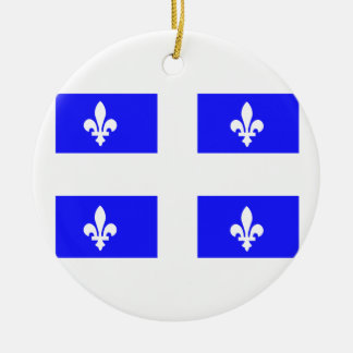 Flag of Quebec Ceramic Ornament