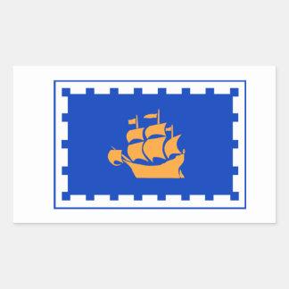 Flag of Quebec City Rectangular Sticker