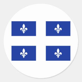 Flag of Quebec Classic Round Sticker