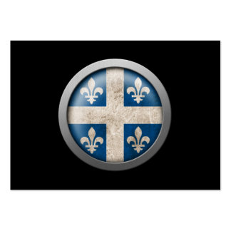 Flag of Quebec Disc Business Card Template