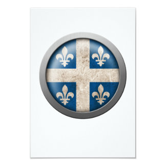 Flag of Quebec Disc 3.5x5 Paper Invitation Card