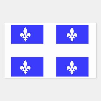 Flag of Quebec Rectangular Sticker