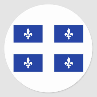 Flag of Quebec Round Stickers
