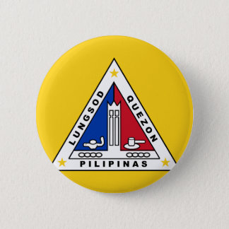 Flag of Quezon city, in the Philippines. Button